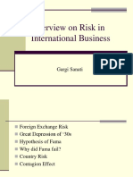 Overview on Risk in Int Bsns