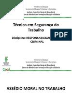Técnico Em Segurança Do Trabalho- Responsabilidade Civil