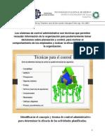 Tecnicas de Control Administrativo. GESTION EMPRESARIAL.U6