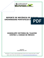 Reporte Universidad Pontificia
