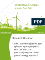 Future Alternative Energies - Hydrogen Fuel Cells - Culminating Presentation Final 2010