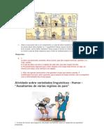 Exercicio Variedade Lingusiticas e Tipos de Ling 2018