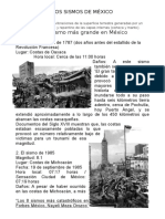 SISMOS DE MÉXICO