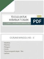 M3-Tools Untuk Membuat Objek