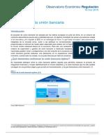 Observatorio Regulacion Completando La Union Bancaria