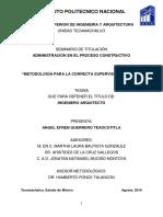 Metodología Para La Correcta Supervisión Una Obra