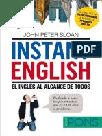 Instant English El Inglés Al Alcance de Todos - John Peter Sloan
