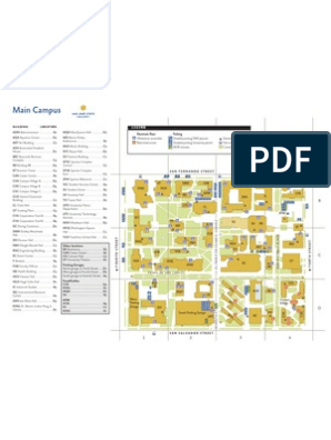 sjsu campus map pdf Sjsu Campus Map Building Engineering Design sjsu campus map pdf