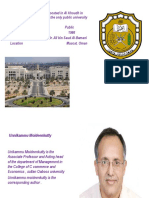 Sultan Qaboos University Ppt New
