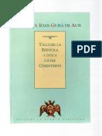 (Sfantul Ioan Gura de Aur) Talcuiri La Epistola a Doua Catre Corintheni