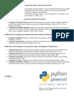 Lasificación de Los Lenguajes de Programación Según Su Nivel de Abstracción