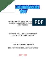 INFORME FINAL DE PARTICIPACIÓN ESTUDIANTIL