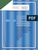 Guía Para La Elaboración de Citas y Referencias Bibliográficas Con Norma Apa