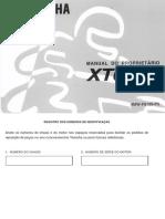 Manual do Proprietário XT 600