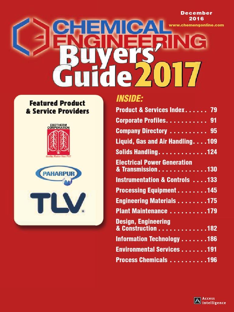 Buyers Guide 2017 | Catalysis | Distillation