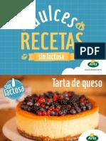 Dulces Recetas sin Lactosa