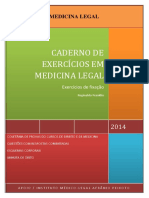 Caderno Exercicios Medicina Legal Reginal Franklin