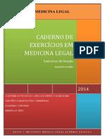 Caderno Exercicios Medicina Legal Reginal Franklin
