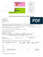 Bank of Baroda Education Loan Application