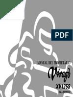 Yamaha Xv 125 s Virago (1999 06) Manual Del Propietario Esp