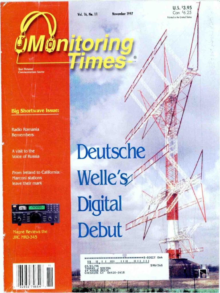 Monitoring Times 1997 11 | Radio | Television