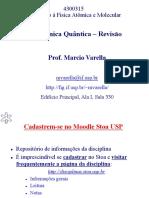 Aula 2 de Introdução à Física Atômica e Molecular - Revisão