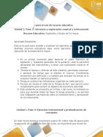Guía Para El Uso de Recurso Educativo - Iniciación y Exploración Musical e Instrumental