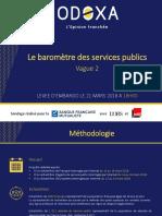 Baromètre des services publics Odoxa