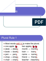 Plural_nouns Rules Ppt