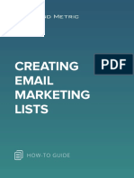 Creating Email Marketing Lists