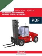 Kalmar DCE90-180 Diesel Specs 18 TON'