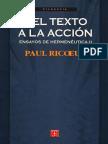 6_Ricoeur Paul, Ensayos de Hermeneutica II - Del Texto A La Accion.pdf