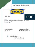 Strategic Marketing Assingment (IKEA)