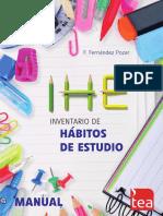 Test Hábitos de Estudio IHE-MANUAL-2014