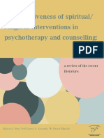 Spiritual and Religious Therapy Literature Review
