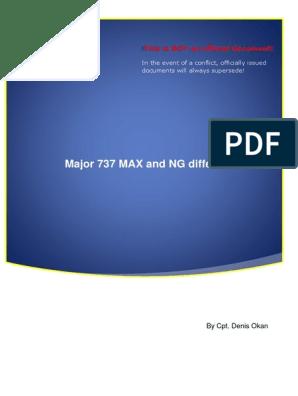 Major B737MAX and NG Differences v 0 2   Landing Gear   Aviation