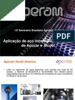 Aplicação de Aço Inoxidável Em Usinas de Açúcar e Álcool Aperam_sba_2012