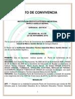 Pacto de Convivencia Vigente Acuerdo 012 de 2014 (27-Feb-2017)