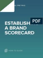 Establishing a Brand Scorecard