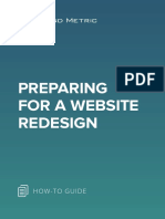 Preparing for a Website Redesign