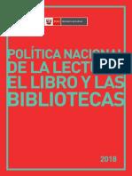 Política Nacional de la Lectura, el Libro y las Bibliotecas - Perú