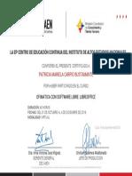 Certificate Libre Office 2017
