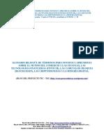 Glosario Bilingue de Terminos sobre Comercio, Finanzas, Tecnologias Financieras, Cadenas de bloques, Criptomonedas y Mineria Digital