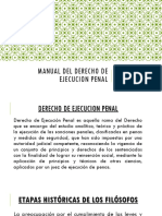 ¿Manual Del Derecho de Ejecucion Penal