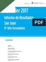 Informe Aprender 2017 - San Juan
