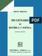 Beristain Helena - Diccionario de Retorica y Poetica