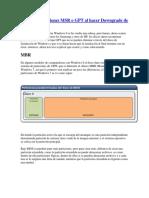 Eliminar Particiones MSR o GPT