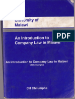 An Introduction to Company Law in Malawi