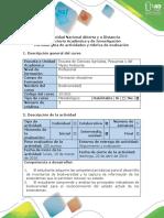 Guía de Actividades y Rúbrica de Evaluación - Fase 3. Métodos Para Inventarios de Biodiversidad