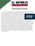 1. Training (Prep Weeks 1-2)